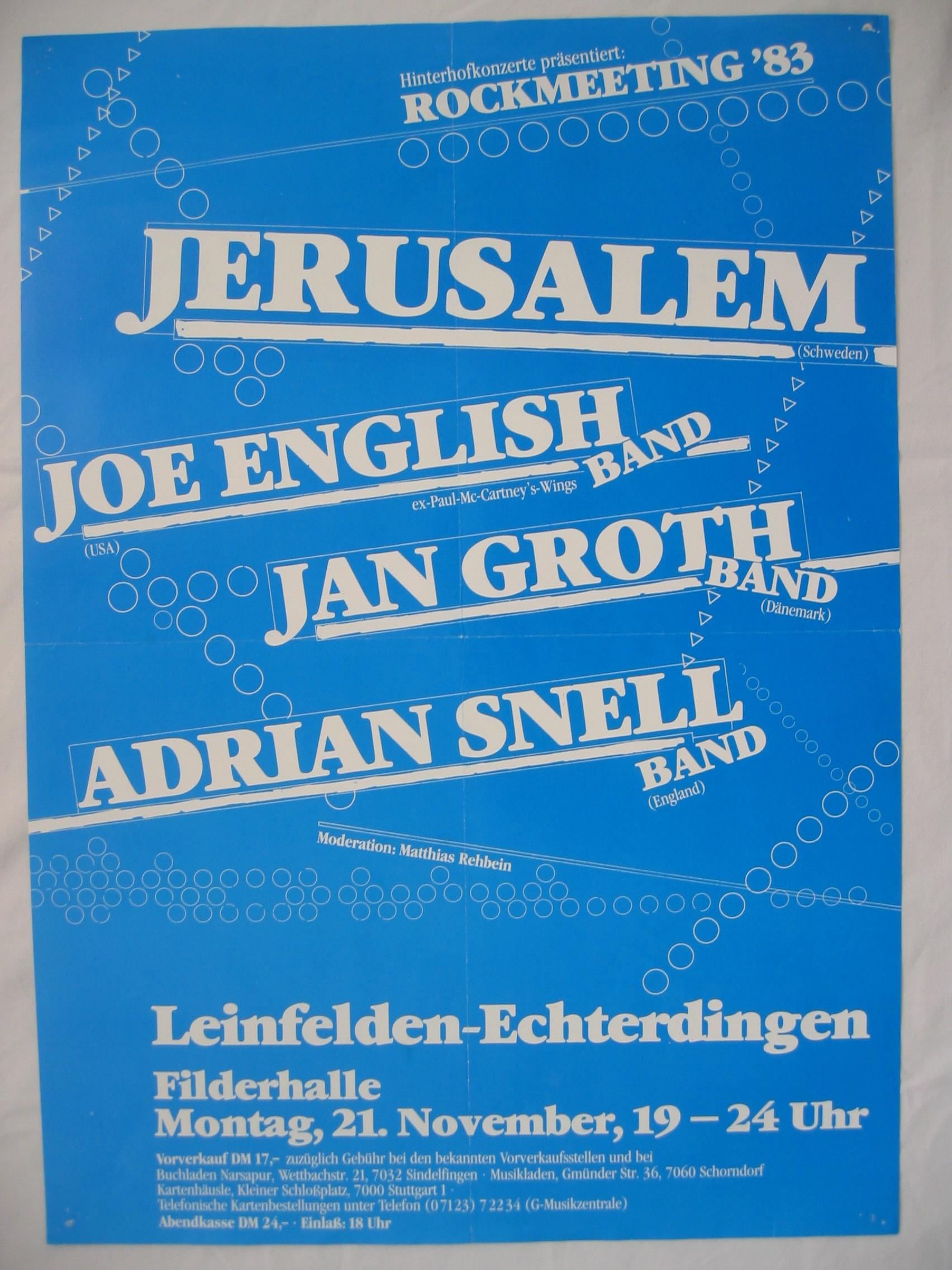 European tour med Joe English och flera