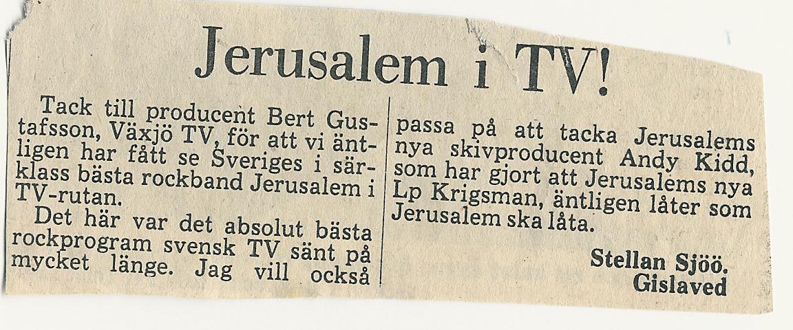 Tack till SVT